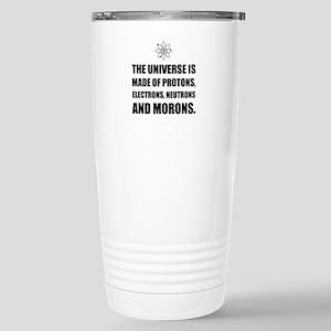 Protons Electrons Neutrons Morons Travel Mug