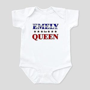 EMELY for queen Infant Bodysuit