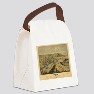 Vintage Map of Grand Haven MI (18 Canvas Lunch Bag