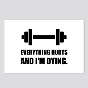 Everything Hurts Dying Workout Postcards (Package