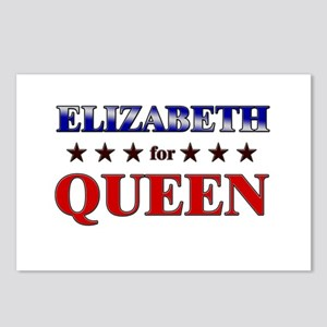 ELIZABETH for queen Postcards (Package of 8)