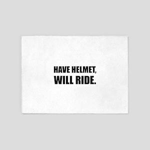 Have Helmet Will Ride 5'x7'Area Rug