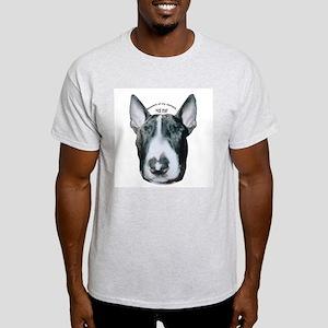 Miniature Bull Terrier Ash Grey T-Shirt