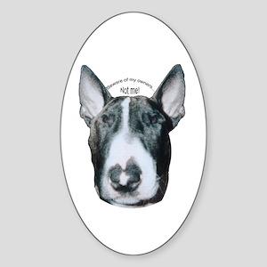 Miniature Bull Terrier Oval Sticker