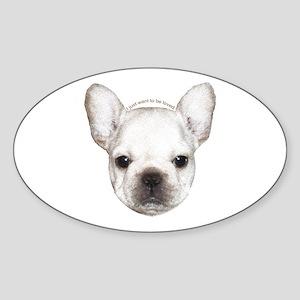French Bulldog Puppy Oval Sticker