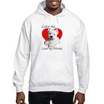 Love My Westie Hooded Sweatshirt
