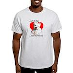 Love My Westie Ash Grey T-Shirt
