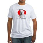 Love My Westie Fitted T-Shirt