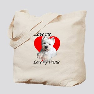 Love My Westie Tote Bag