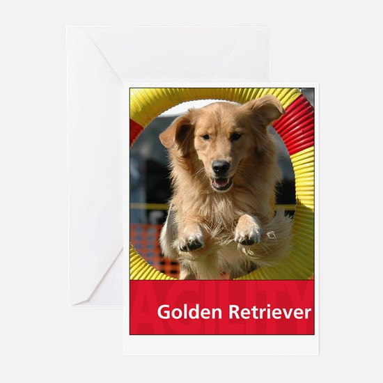 Agility Golden Retriever Greeting Cards