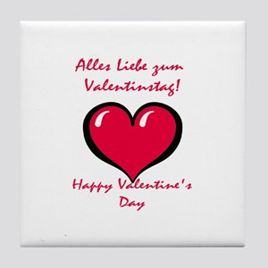 German Valentine Tile Coaster