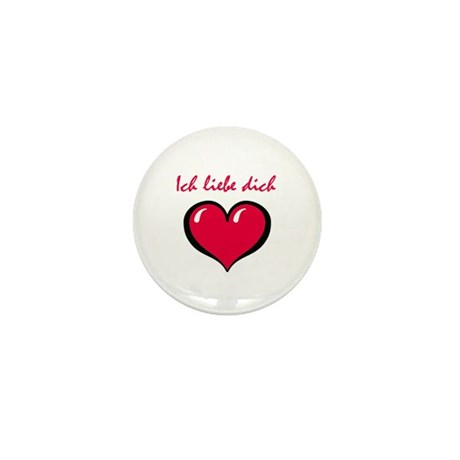 German I love you Mini Button (10 pack)