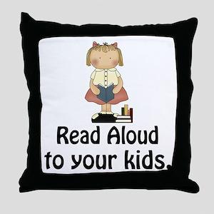 Read Aloud To Kids Throw Pillow