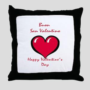 Italian Valentine Throw Pillow