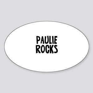 Paulie Rocks Oval Sticker
