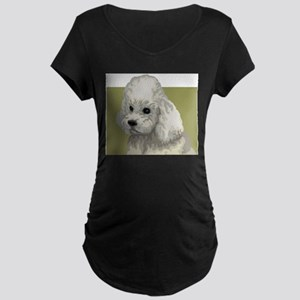 Poodle (Front only) Maternity Dark T-Shirt