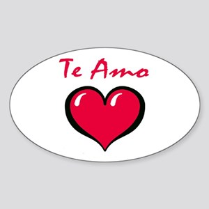 Te Amo Oval Sticker