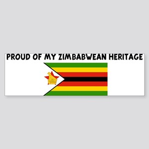 PROUD OF MY ZIMBABWEAN HERITA Bumper Sticker
