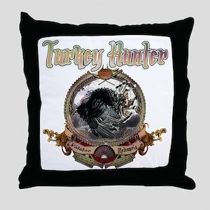 Turkey hunter Art Throw Pillow