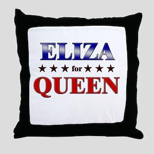 ELIZA for queen Throw Pillow