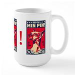 Obey the Min Pin! USA Large propaganda Mug