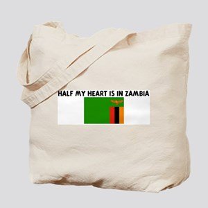 HALF MY HEART IS IN ZAMBIA Tote Bag