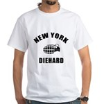 New York Diehard White T-Shirt