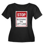 Stop Blocking Women's Plus Size Scoop Neck Dark T-