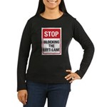 Stop Blocking Women's Long Sleeve Dark T-Shirt