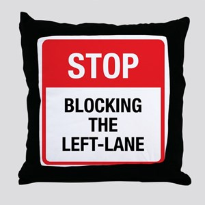 Stop Blocking Throw Pillow
