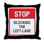 Stop Blocking Throw Pillow