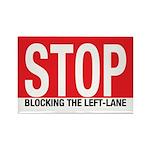 Stop Blocking Rectangle Magnet (100 pack)