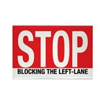 Stop Blocking Rectangle Magnet