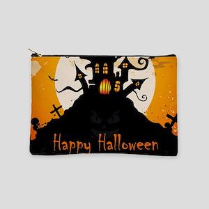 Castle On Halloween Night Makeup Bag