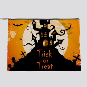 Castle On Halloween Night Makeup Bag
