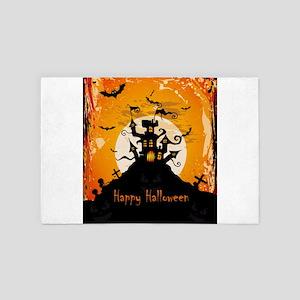 Castle On Halloween Night 4' x 6' Rug