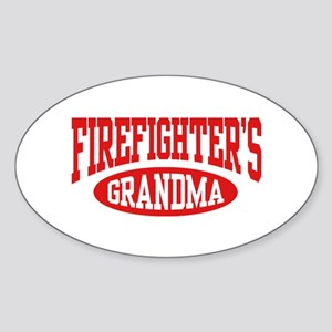 FireFighter's Grandma Oval Sticker