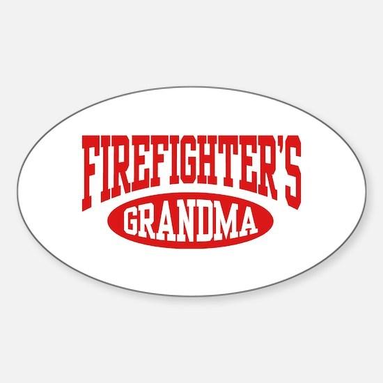 FireFighter's Grandma Oval Decal