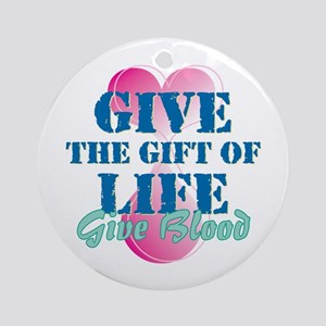 Gift of Life BD Ornament (Round)
