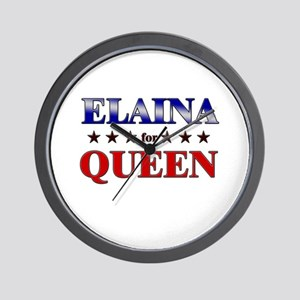 ELAINA for queen Wall Clock