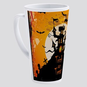 Castle On Halloween Night 17 oz Latte Mug