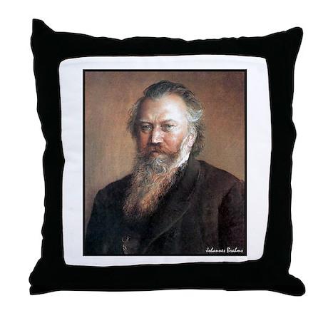 "Faces ""Brahms"" Throw Pillow"