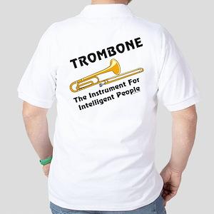 Trombone Genius Back Image Golf Shirt