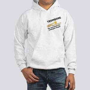 Trombone Genius Pocket Image Hooded Sweatshirt