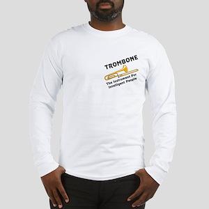 Trombone Genius Pocket Image Long Sleeve T-Shirt