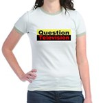 Question Television Jr. Ringer T-shirt
