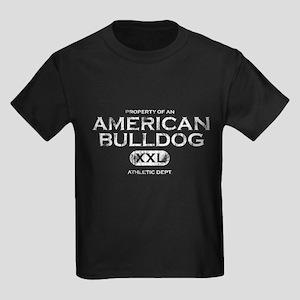 Property of American Bulldog Kids Dark Tee Shirt