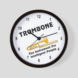 Trombone Genius Wall Clock