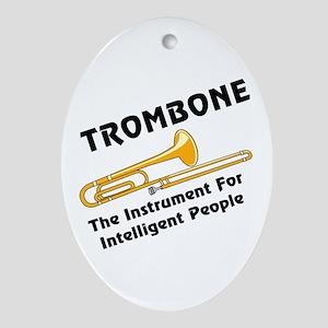 Trombone Genius Oval Ornament