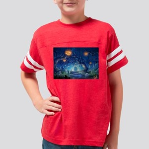 Halloween Night In Cemetery T-Shirt